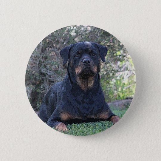 Rottweiler 2 Inch Round Button