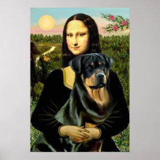 Rottweiler (#3) - Mona Lisa Poster