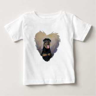 Rottweiler Art, I love Rotties Impressionist Baby T-Shirt