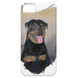 Rottweiler Art, I love Rotties Impressionist iPhone 5 Case