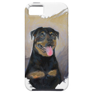 Rottweiler Art, I love Rotties Impressionist iPhone 5 Cover