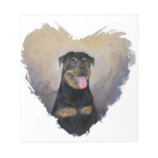 Rottweiler Art, I love Rotties Impressionist Notepad