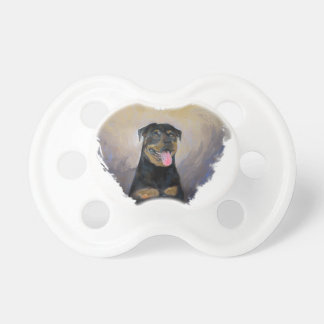 Rottweiler Art, I love Rotties Impressionist Pacifier