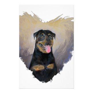 Rottweiler Art, I love Rotties Impressionist Stationery