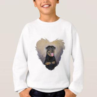 Rottweiler Art, I love Rotties Impressionist Sweatshirt