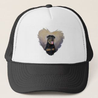 Rottweiler Art, I love Rotties Impressionist Trucker Hat