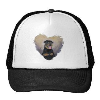 Rottweiler Art, I love Rotties Impressionist Trucker Hat