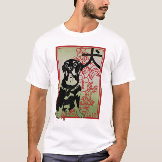 Rottweiler Asian Inspired Illustration T-Shirt