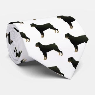 Rottweiler Basic Dog Breed Illustration Silhouette Tie