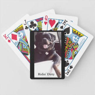 "Rottweiler Bicycle Poker Cards ""Ridin' Dirty"""