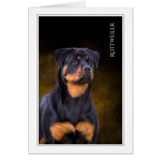 Rottweiler Blank Greeting Card