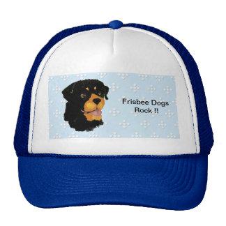 Rottweiler - Blue w/ White Diamond Design Trucker Hat