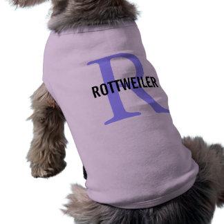 Rottweiler Breed Monogram Design Pet Shirt