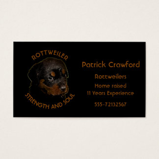 Rottweiler Breeder And Training Business Card