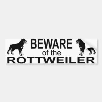 rottweiler bumber sticker