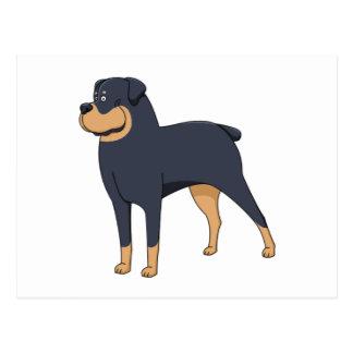 rottweiler cartoon 2 postcard