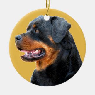 Rottweiler Ceramic Ornament