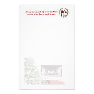 Rottweiler Christmas Fireplace Stationery