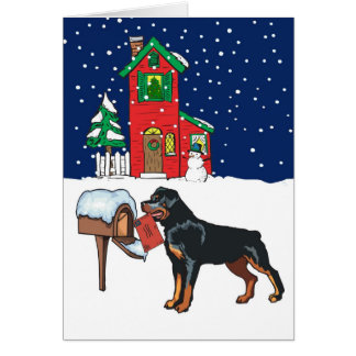 Rottweiler Christmas Mail Card
