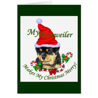Rottweiler Christmas Merry Card