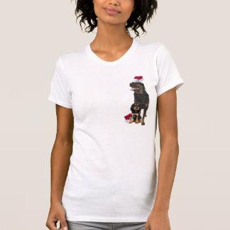 Rottweiler Christmas Nightshirt T-shirts