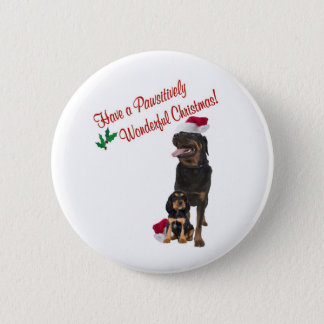 Rottweiler Christmas Wishes 2 Inch Round Button