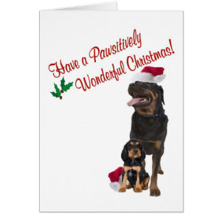 Rottweiler Christmas Wishes Card
