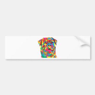 rottweiler color bumper sticker