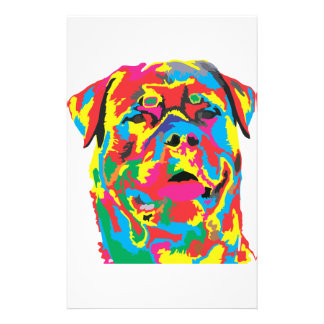 rottweiler color stationery paper