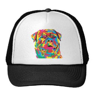 rottweiler color trucker hat