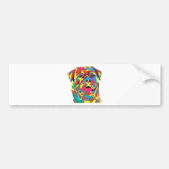 rottweiler colour bumper sticker