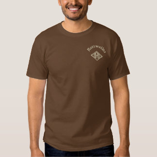 Rottweiler Dad Gifts Embroidered T-Shirt