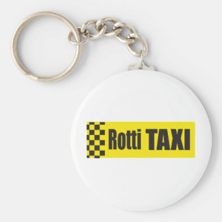 Rottweiler de taxi porte-clé rond