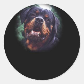 Rottweiler Design Classic Round Sticker