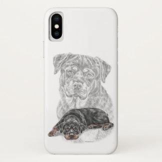 Rottweiler Dog Art iPhone X Case