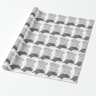 Rottweiler Dog Art Wrapping Paper