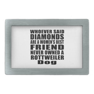 ROTTWEILER DOG BEST FRIEND DESIGNS RECTANGULAR BELT BUCKLE