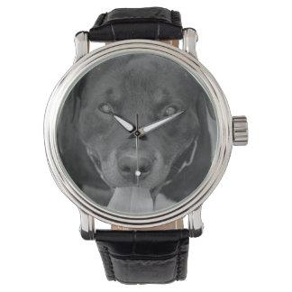 Rottweiler Dog Black & White Watch