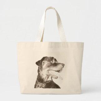 Rottweiler Dog Canine Art Tote