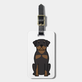 Rottweiler Dog Cartoon Luggage Tag