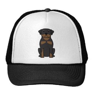Rottweiler Dog Cartoon Trucker Hat