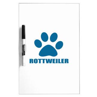 ROTTWEILER DOG DESIGNS DRY ERASE BOARD
