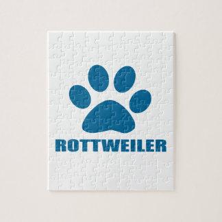 ROTTWEILER DOG DESIGNS JIGSAW PUZZLE