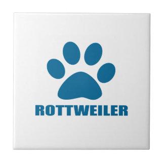 ROTTWEILER DOG DESIGNS TILE