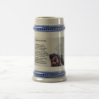 Rottweiler Dog  Father Poem Beer Stein