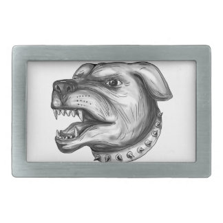 Rottweiler Dog Head Growling Tattoo Belt Buckles