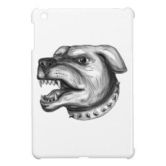 Rottweiler Dog Head Growling Tattoo iPad Mini Cover
