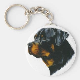 rottweiler dog keychain