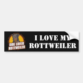 Rottweiler Dog Lover Bumper Sticker