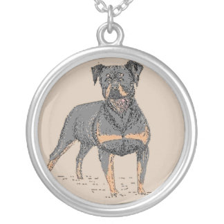 Rottweiler dog necklace